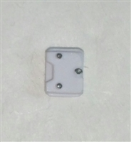 "Armor Panel: Small Size WHITE Version - 1:18 Scale Modular MTF Accessory for 3-3/4"" Action Figures"