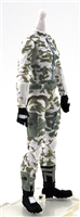 "MTF Female Valkyries Body WITHOUT Head WHITE Camo ""Arctic-Ops"" Version BASIC - 1:18 Scale Marauder Task Force Action Figure"