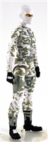 "MTF Female Valkyries with Balaclava Head  WHITE Camo ""Arctic-Ops"" Version BASIC - 1:18 Scale Marauder Task Force Action Figure"