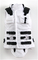 "Female Vest: High Collar Type White Version - 1:18 Scale Modular MTF Valkyries Accessory for 3-3/4"" Action Figures"