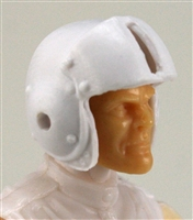 "Headgear: WHITE Flight Helmet - 1:18 Scale Modular MTF Accessory for 3-3/4"" Action Figures"