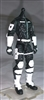 "MTF Male Trooper Body WITHOUT Head BLACK with WHITE ""Ghost-Ops"" Version BASIC - 1:18 Scale Marauder Task Force Action Figure"