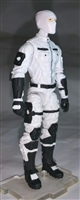"MTF Male Trooper with Balaclava Head WHITE ""Ghost-Ops"" Version BASIC - 1:18 Scale Marauder Task Force Action Figure"