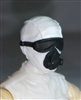 "Male Head: Mask with Goggles & Breather WHITE with Black Version - 1:18 Scale MTF Accessory for 3-3/4"" Action Figures"