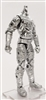 "MTF Male Trooper Body WITHOUT Head SILVER ""Kronos-Ops"" Cloth Leg (No Leg Armor) - 1:18 Scale Marauder Task Force Action Figure"
