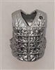 "Male Vest: Tactical Type SILVER Version - 1:18 Scale Modular MTF Accessory for 3-3/4"" Action Figures"