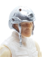 "Headgear: Half-Shell Helmet SILVER Version - 1:18 Scale Modular MTF Accessory for 3-3/4"" Action Figures"