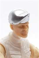 "Headgear: Beret SILVER Version - 1:18 Scale Modular MTF Accessory for 3-3/4"" Action Figures"