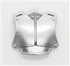 "Armor Chest Plate: SILVER Version - 1:18 Scale Modular MTF Accessory for 3-3/4"" Action Figures"