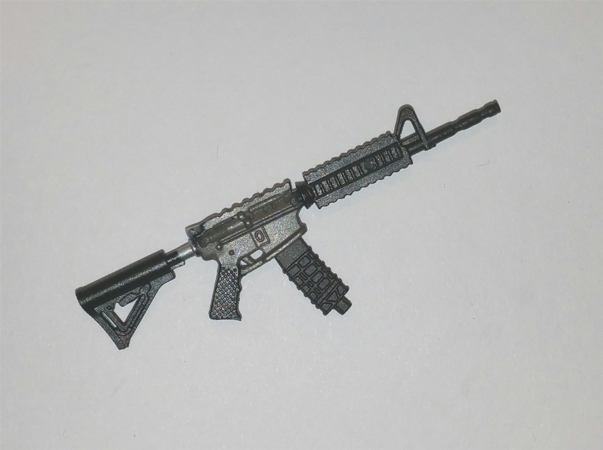 m4 carbine assault rifle with ammo mag gun metal version basic
