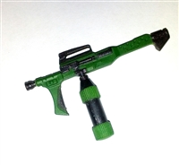 Flamethrower Incendiary Weapon GUN-METAL & GREEN Version - 1:18 Scale Weapon for 3-3/4 Inch Action Figures