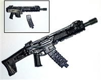 "ACR Assault Rifle w/ Mag GUN-METAL Version BASIC - ""Modular"" 1:18 Scale Weapon for 3-3/4 Inch Action Figures"