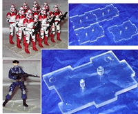 Marauder I.D.S. Action Figure Stand (1) - CLEAR