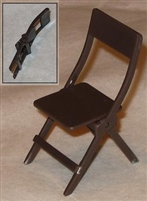 Folding Chair - Brown Color - 1:18 Scale Accessory for 3 3/4 Inch Action Figures