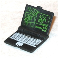 Laptop Computer with Folding Screen - 1:18 Scale Accessory for 3 3/4 Inch Action Figures