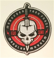 Marauder Task Force Logo Embroidered Iron-On 4 inch Cloth Patch