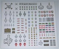 Marauder Task Force Insigina Die-Cut Sticker Sheet #1 - 1:18 Scale Accessories for 3 3/4 Inch Action Figures