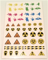 "Marauder Task Force ""Toxic"" Insigina Die-Cut Sticker Sheet - 1:18 Scale Accessories for 3 3/4 Inch Action Figures"