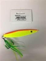 MFS 5oz Flutter Jig Lure Chart/Orange w/Squid