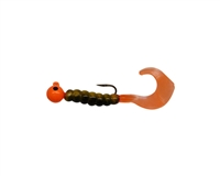 1/8oz Perch Single Tail/Orange Head/Black Eye 2/Pk