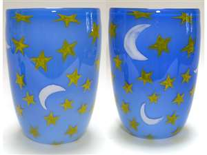 Rick and Valerie Beck Moon and Stars Vase
