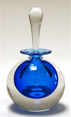 Mary Angus Blue Glass Perfume Bottle