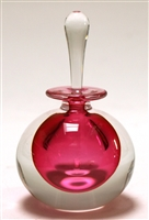 Mary Angus Pink  Glass Perfume bottle