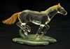 Shawn Tsai Running Horse Glass Sculpture