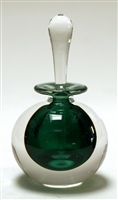 Mary Angus Silver Green Glass Perfume Bottle