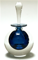 Mary Angus Silver Blue Glass Perfume Bottle
