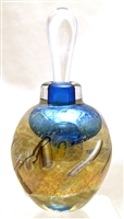 Loretta Eby Hand Blown Glass Blue Savannah Perfume