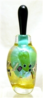 Loretta Eby Hand Blown Glass Foam Green Fiesta Perfume