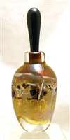 Loretta Eby Hand Blown Glass Gold Fiesta Perfume