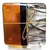 Chris Paulson Black, Amber, Stringer Coasters