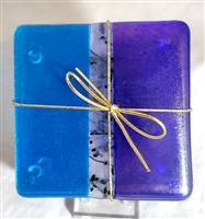Chris Paulson Straight Turquoise blue/ cobalt Coasters