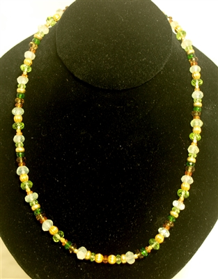 Laura Gibson 18Kt Gold semi precious gemstone necklace