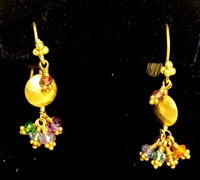 Laura Gibson 18Kt Gold semi precious gemstone Earrings