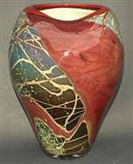 Christopher Morrison Hand Blown Amorphic Glass Vase