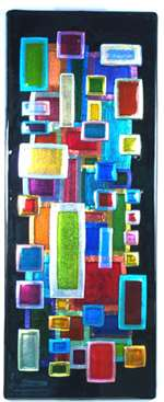 Jane Tivol Dichroic Klimt Fused Glass Wall Art