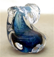 Anchor Bend Small Glass Wave Sculpture