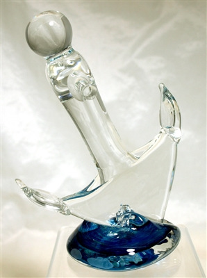 Anchor Bend Hand Sculpted Glass Anchor Sculpture
