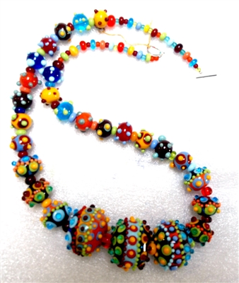 Alicia Niles Long Colored Glass Bead Necklace