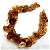 Alicia Niles Hand Blown Amber Pod glass  Necklace