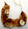Alicia Niles Hand Blown Amber Pod glass  Bracelet