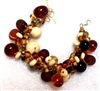 Alicia Niles Amber Pebble glass  Bracelet