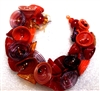 Alicia Niles Hand blown Red Pod glass  Bracelet