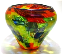 Christopher Morrison Hand Blown Large Murrini Mosaic Vase