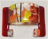 Chris Paulson Red/Fall Confetti Glass Cell Phone Holder