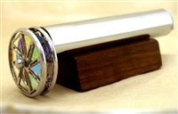 Chesnik Kaleidoscopes Small Dichroic Floret Chrome Kaleidoscope