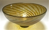 David Lindsay Hand Blown Glass Large Gold Luster Open Bowl